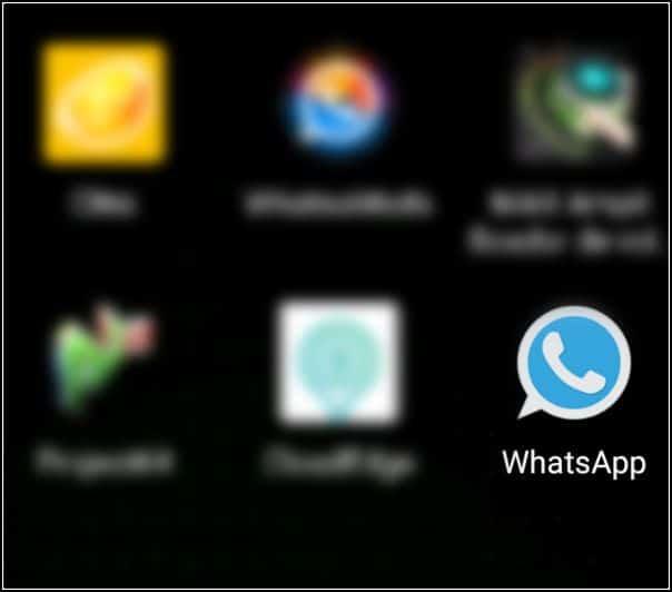WhatsApp Plus Reborn instalado