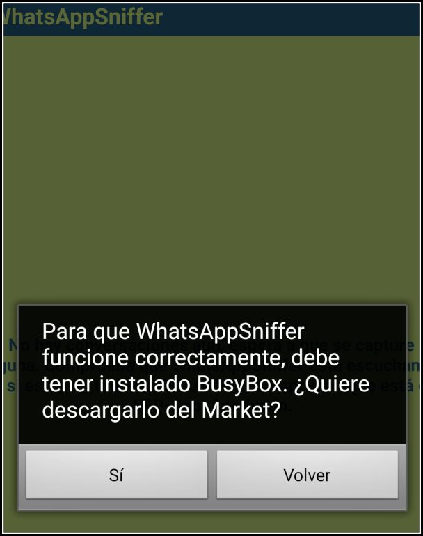 WhatsApp Sniffer Busybox