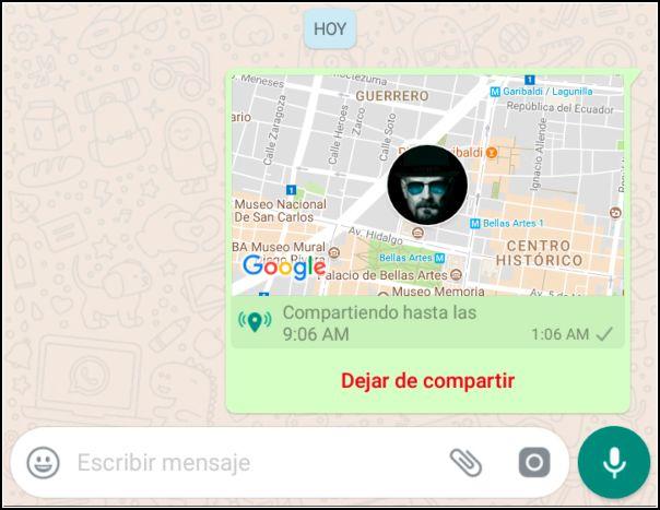 enviar ubicación falsa WhatsApp con Fake GPS
