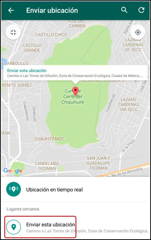 enviar ubicación falsa