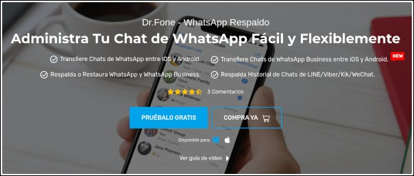 dr.fone WhatsApp Respaldado