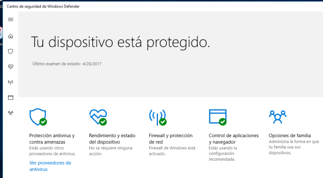centro de seguridad de windows defender