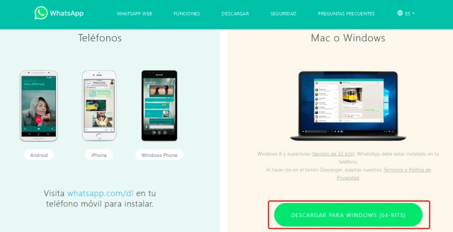 Instalar programa WhatsApp en Windows