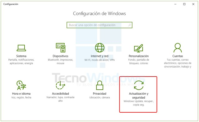 Cómo actualizar Windows 10