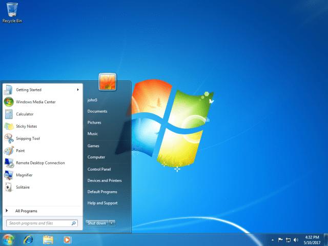 windows 7 en inglés