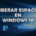 Cómo liberar espacio del disco duro de Windows 10