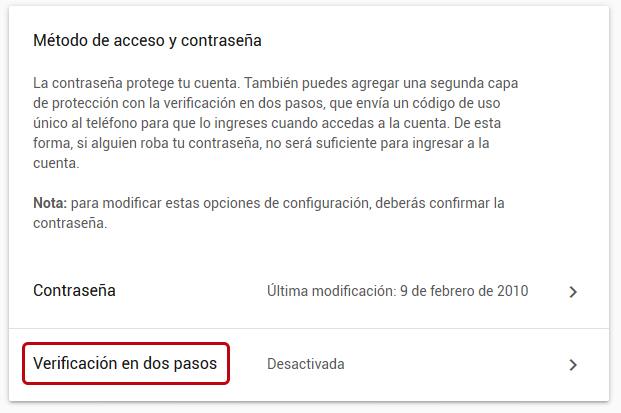 Cómo cambiar la contraseña de Gmail en Windows