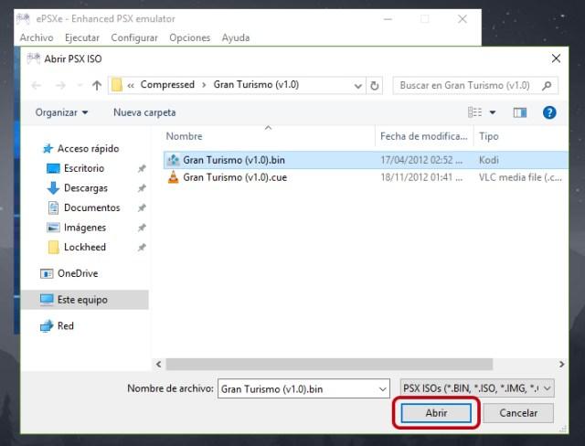 Cómo usar el emulador ePSXe