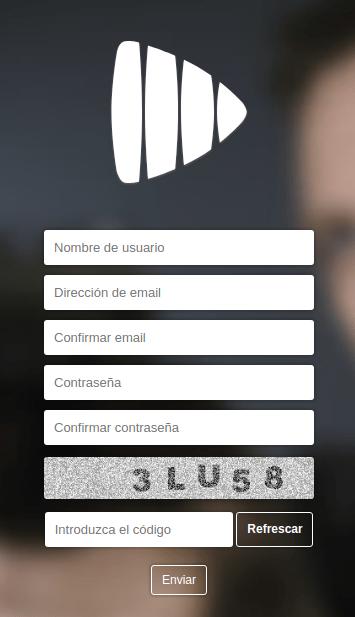 registrar nueva cuenta en PlayMax