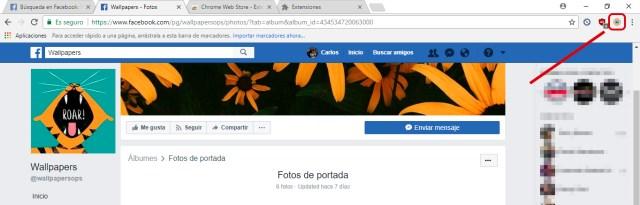 Cómo descargar todas las fotos de Facebook al disco duro