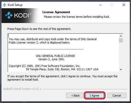 Cómo instalar Kodi 18 en Windows 10