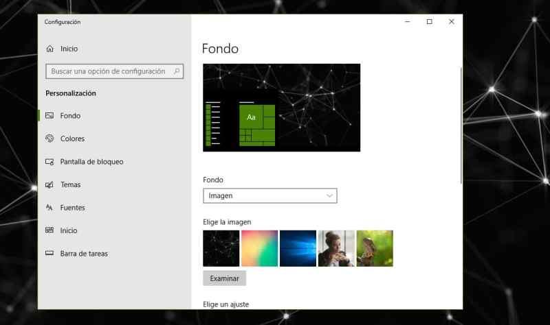 Cómo cambiar el fondo de pantalla en Windows 10