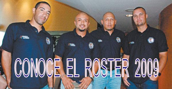 De Izq. a Der.: F. Lentini, Goyo Vasquez, Fco. Rivera y Spike Lundberg