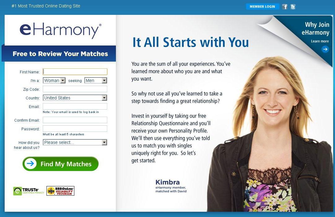 Eharmony сайт знакомств