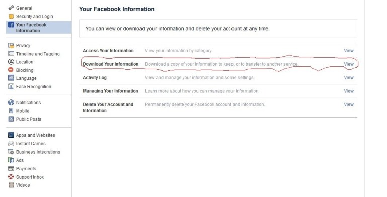 How to Backup Facebook Pictures