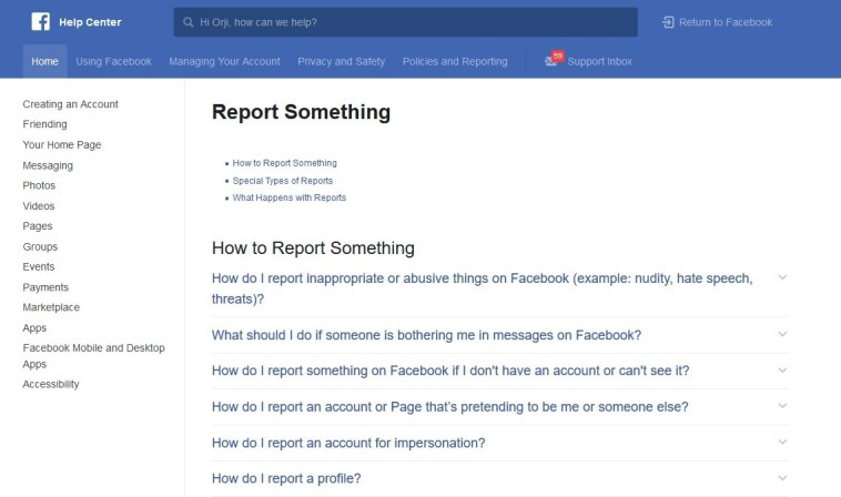 HOW TO REPORT A PERSON ON FACEBOOK
