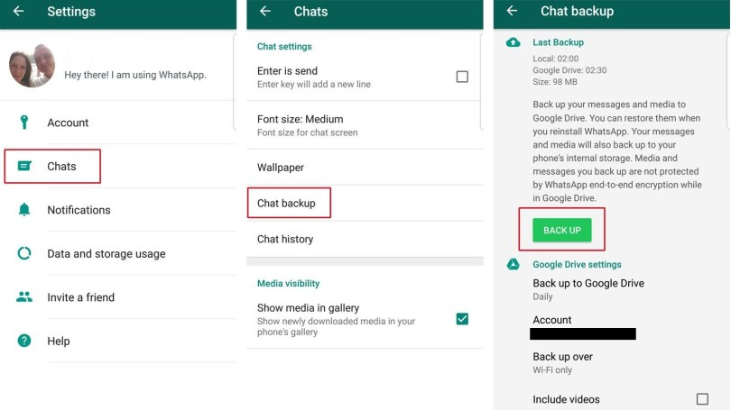 How to Backup WhatsApp Data