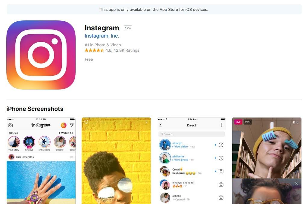 Instagram on App Store