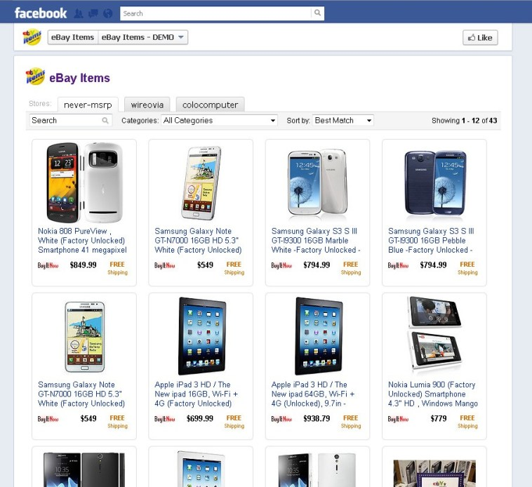 Facebook Selling Page
