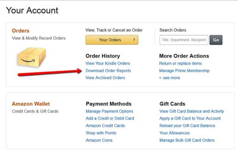 Amazon Account History