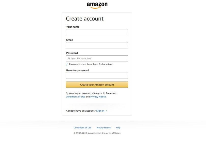Amazon Online Account