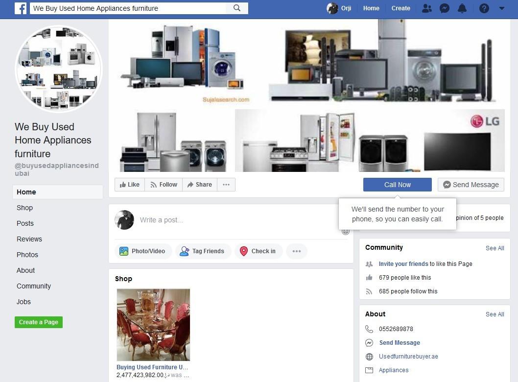 Buy Used Appliances Near Me on Facebook Marketplace App