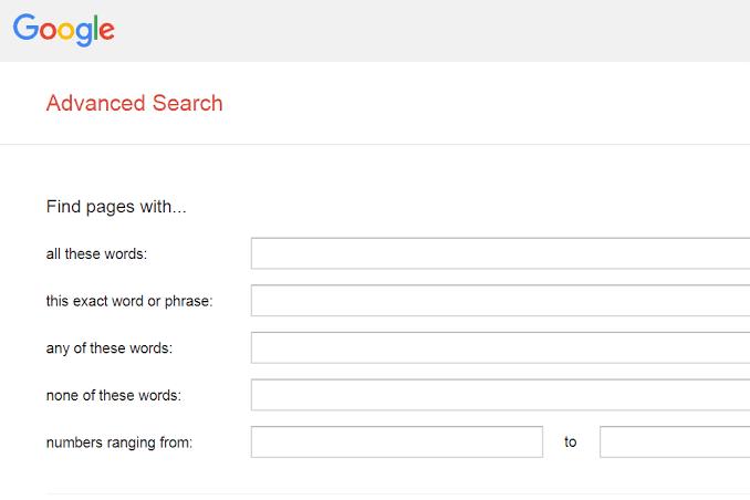 Google Advanced Image Search
