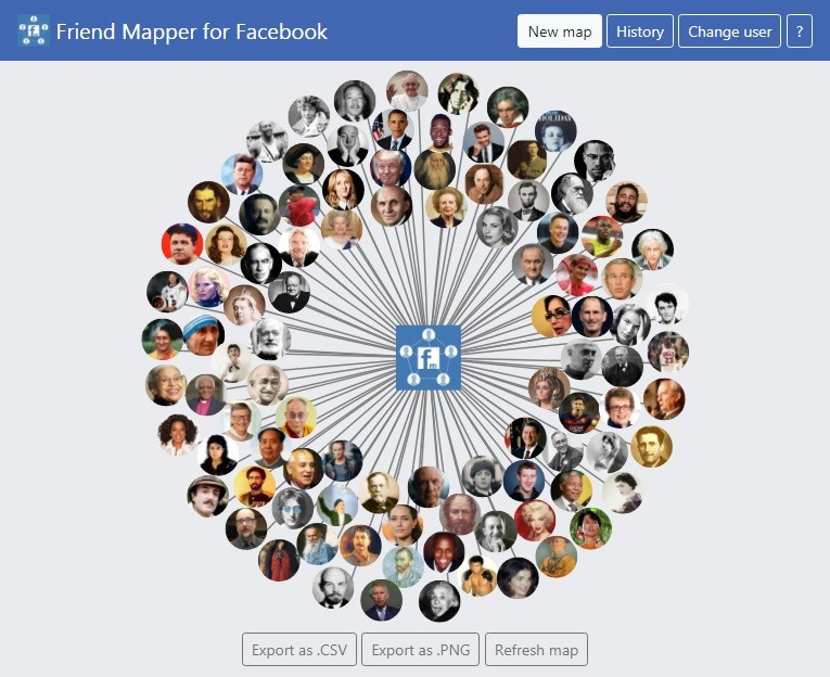 How to See Private Friends List on Facebook using Facebook Friend Mapper