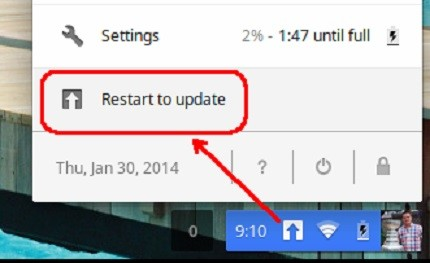 How to Restart to Update Chromebook
