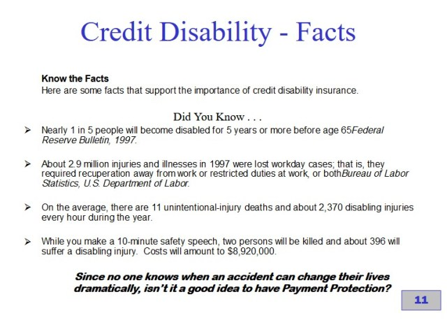 Credit Disability Insurance Policy