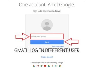 Gmail Log in Different User