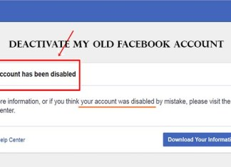 Deactivate my Old Facebook Account