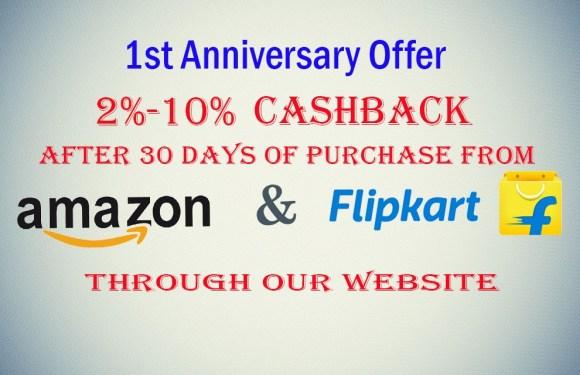TecSmash 1st Anniversary Cashback Offer. Upto 10% Cashback