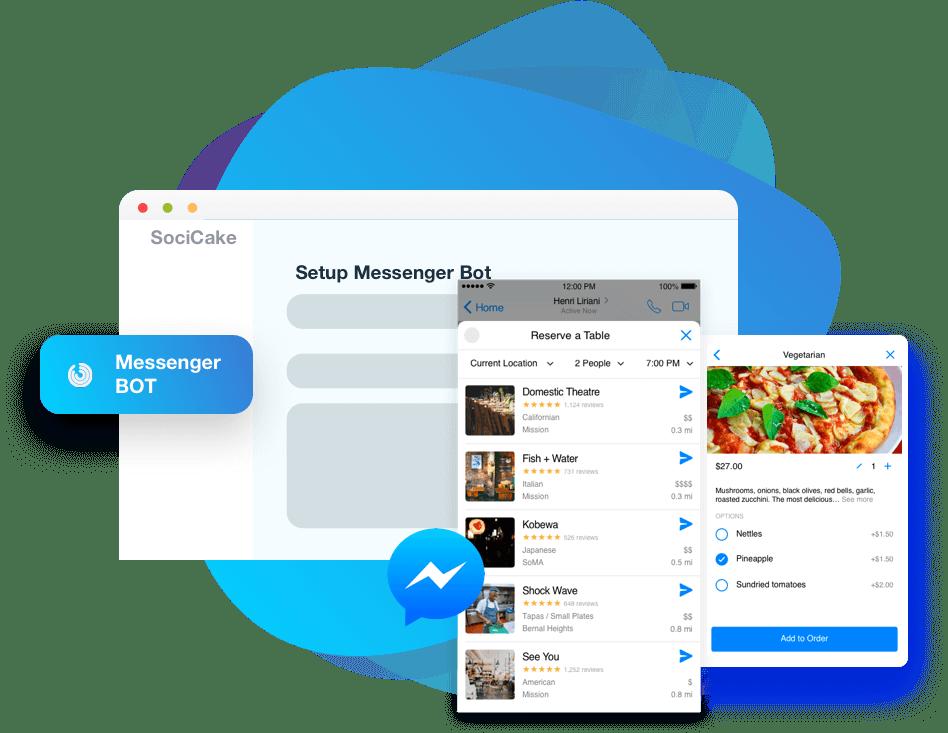 FB SociCake Messenger Bot