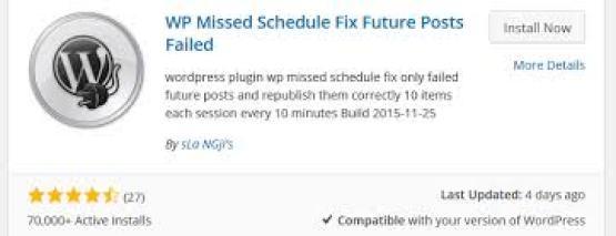 WP Missed Schedule Plugin
