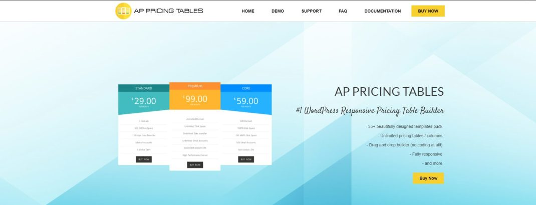 AP Pricing Tables
