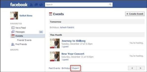 Add Facebook Events to your Google Calendar