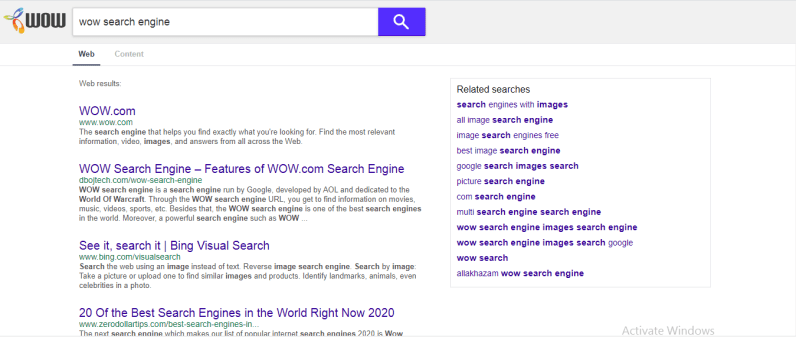 Steps To Use WOW Search Engine