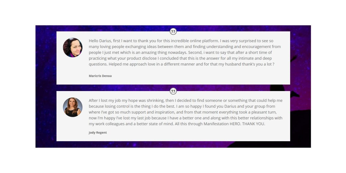 manifestation hero customer reviews