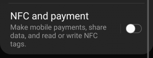 no supported application for this nfc tag