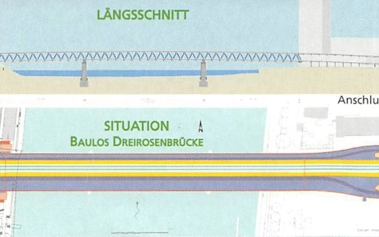 Dreirosenbrücke Basel, 1. Teil