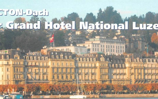 TECTON-Dach für Grand Hotel National Luzern