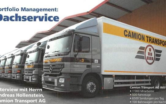 Portfolio Management: Dachservice. Interview mit Andreas Hollenstein, Camion Transport AG
