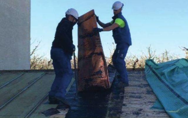 Demontage des alten Dachs