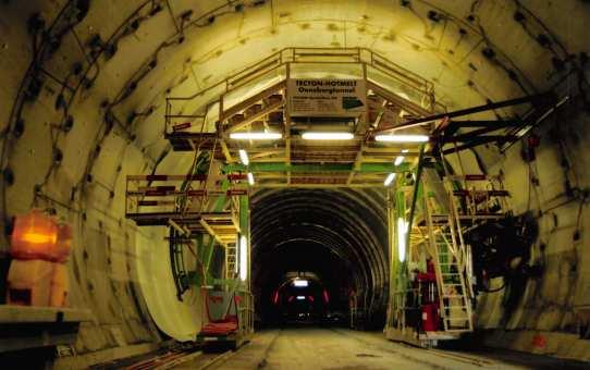 TECTON-Hotmelt-Abdichtungssystem für Tunnelbauten