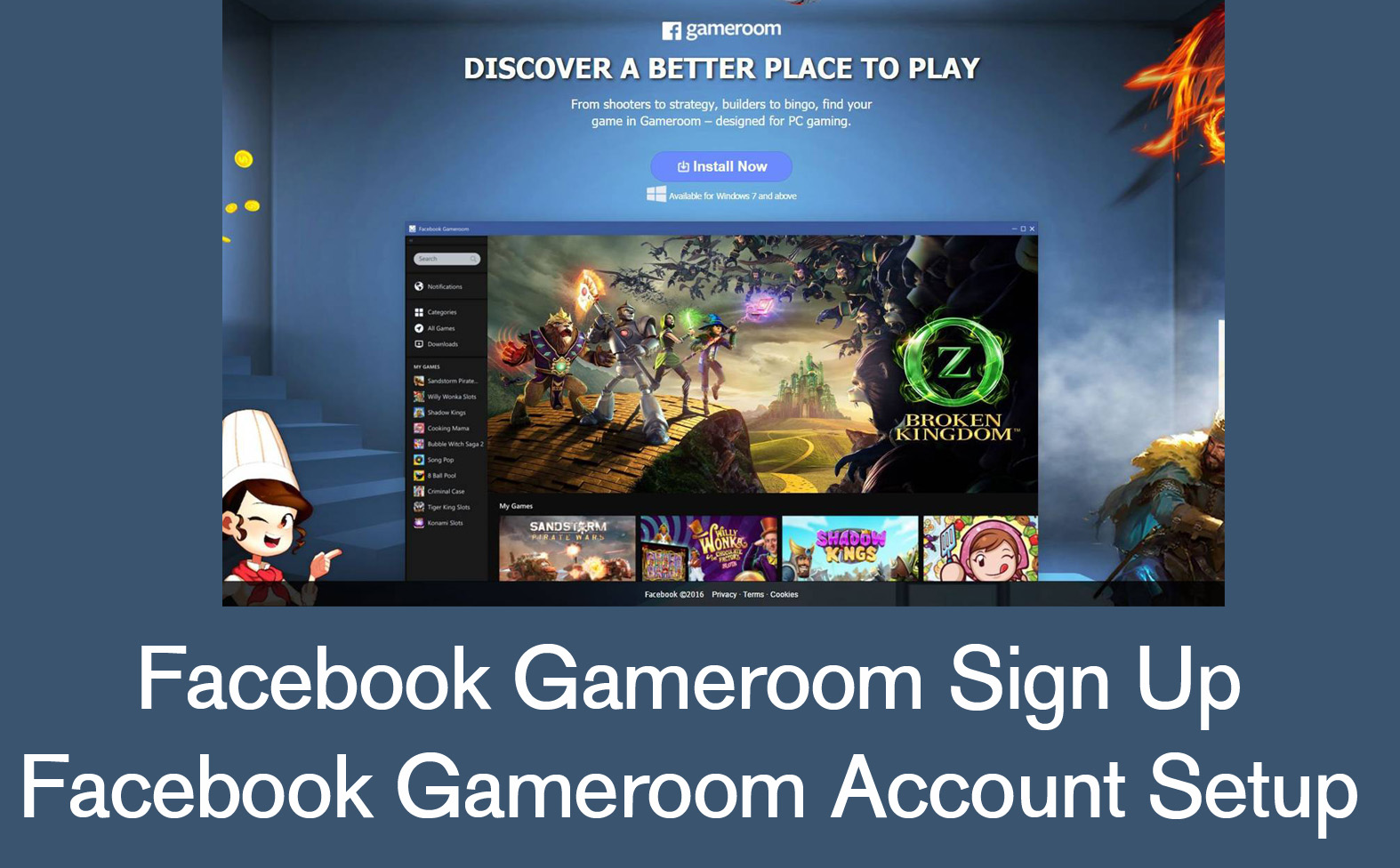 download and install facebook gameroom