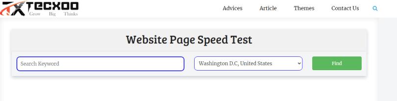 tecxoo page speed checker