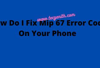 Fix Mip 67 Error Code