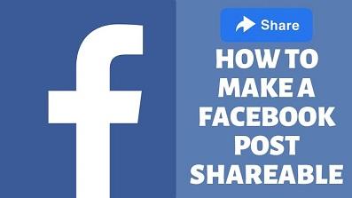 Make Facebook Post Shareable