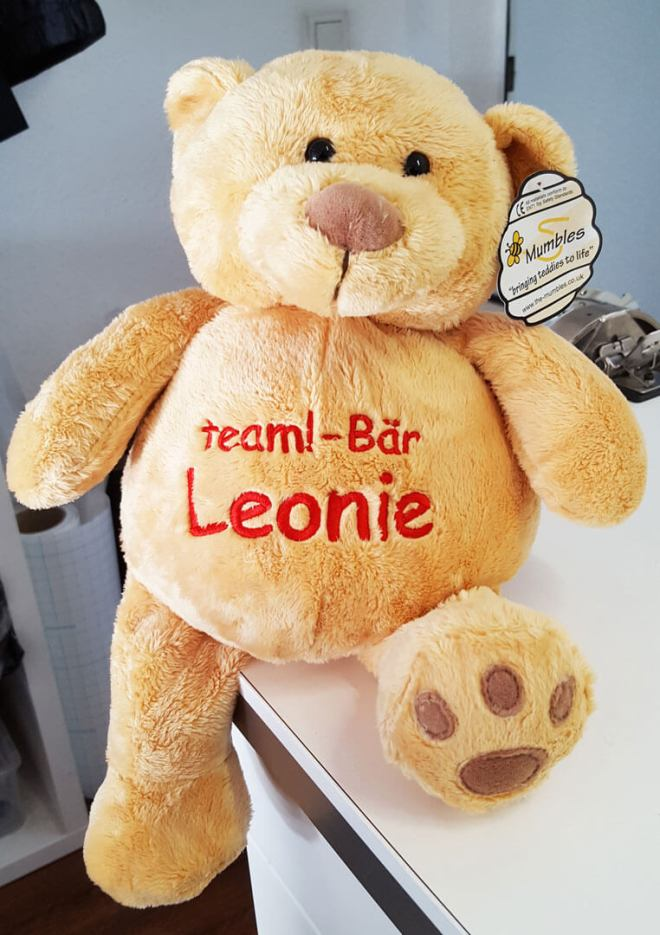 Teddy mit Name bestickt, Team Teddy